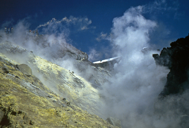 Sulfur Deposits in the Avachinsky Volcano - Kamčatka, Russian Federation - Summer 1993