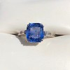 Vintage-Inspired and Contemporary 3.03ct Blue Sapphire Ring (GIA, No-Heat)) 8