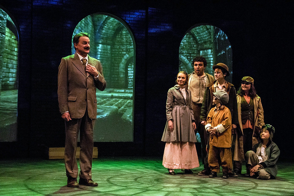 . Miranda Leeann, left, David Gretchko, Adler Chefitz, Colin Frothingham, Elise Pakiela and Patrick Hensel perform in Dobama Theatre�s �Sherlock Holmes: The Baker Street Irregulars.� The show continues through Dec. 30. For more information, visit www.dobama.org. (Steve Wagner Photography)