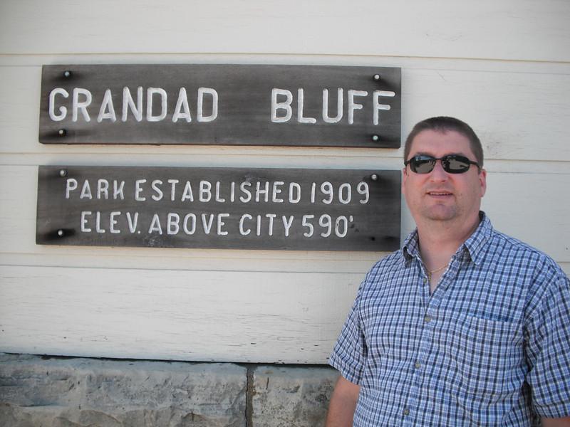 2009-07-11 Brian at Grandad Bluff La Crosse WI.JPG