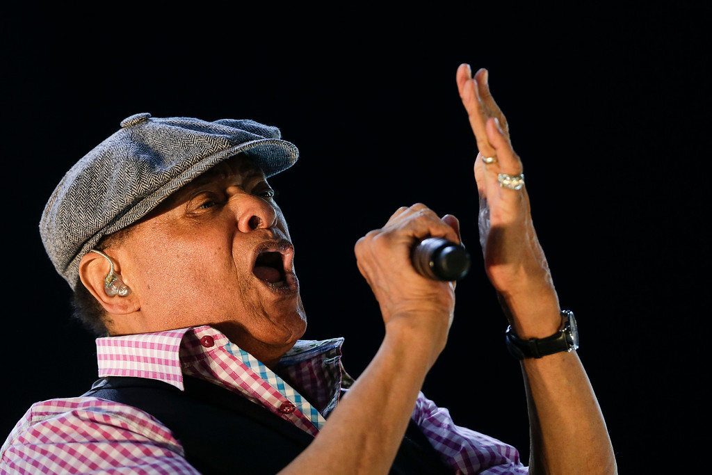 . FILE - In this Sept. 27, 2015, file photo, Al Jarreau performs at the Rock in Rio music festival in Rio de Janeiro, Brazil. Jarreau died in a Los Angeles hospital Sunday, Feb. 12, 2017, according to his official Twitter account and website. (AP Photo/Felipe Dana, File)