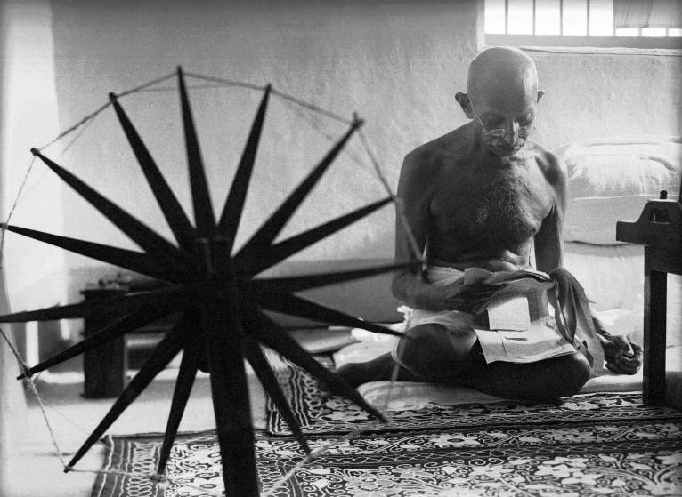World Famous Photos - The Mahatma - By Margaret Bourke – 1946