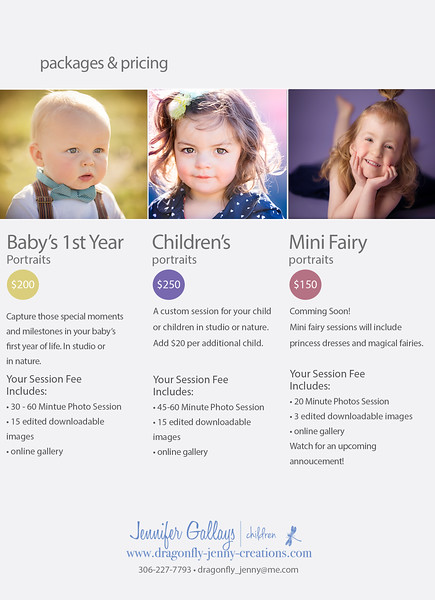 Children's Photography Investment Information