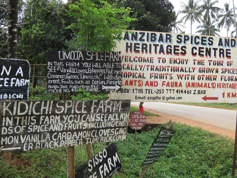 Spice Tour signs