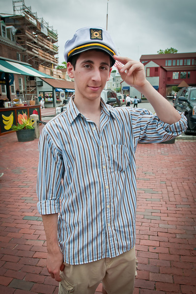 While walking around the touristy part of Newport, Ben put on this sweet sailors hat and we had some fun. He was a good sport for modeling for me.