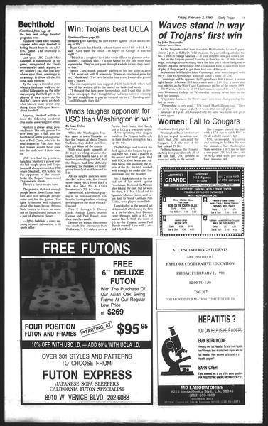 Daily Trojan, Vol. 111, No. 16, February 02, 1990