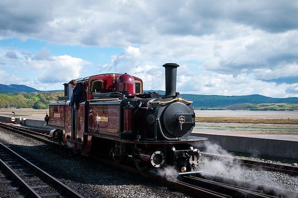 Ffestiniog and Welsh Highland Railways Porthmadog May Day 2017