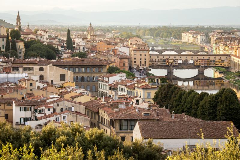 Ponte Vecchio, Piazzale Michelangelo
