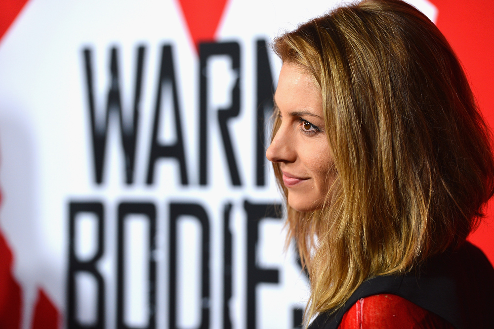 "Description of . Actress Dawn Olivieri arrives at the premiere of Summit Entertainment\'s ""Warm Bodies\"" at ArcLight Cinemas Cinerama Dome on January 29, 2013 in Hollywood, California.  (Photo by Frazer Harrison/Getty Images)"