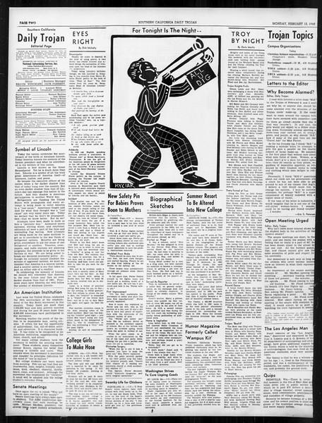 Daily Trojan, Vol. 31, No. 82, February 12, 1940