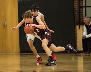 2020 JV Boys Basketball:  Hall-Dale vs Monmouth