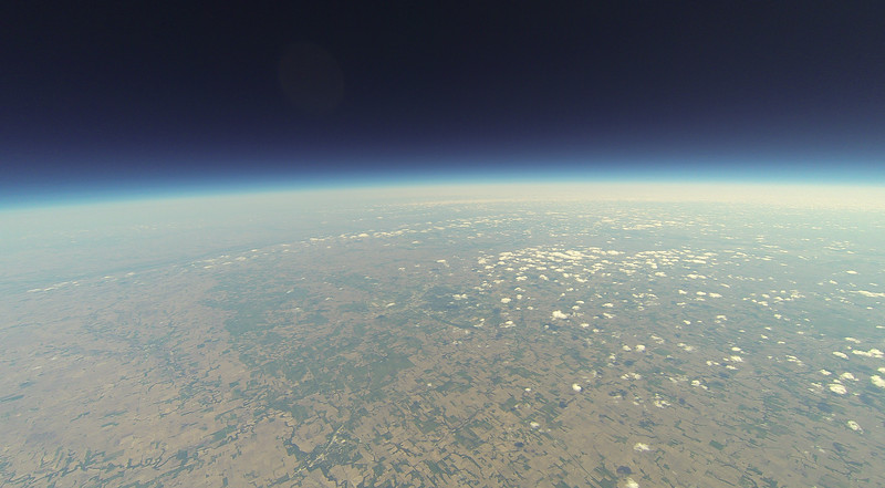 Looking northeast, Lincoln, NE middle-center. Crete, NE towards bottom just left of center