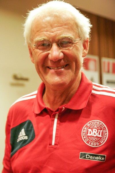 Morten Olsen, coach of the Danish football team, Gdansk, Poland, 2013
