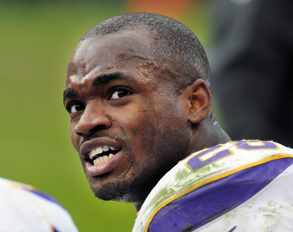 . <p><b>6. ADRIAN PETERSON</b> <p>Marks seventh consecutive year as best player never to reach the Super Bowl. <p>   (Pioneer Press: Chris Polydoroff)
