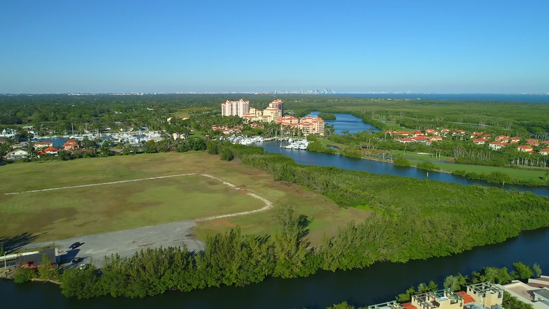 Aerial video Deering Bay Yacht Country Club