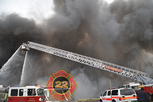 Multiple Alarm Fire in Southfield Michigan