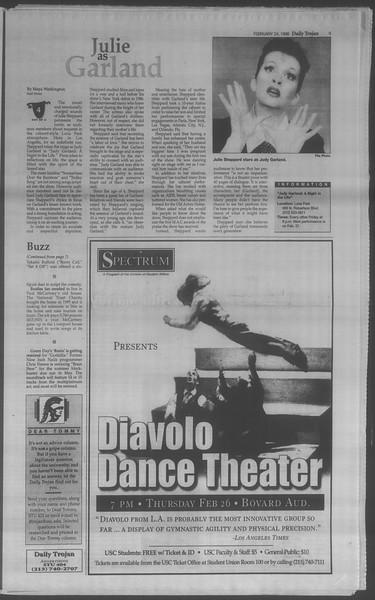 Daily Trojan, Vol. 133, No. 30, February 24, 1998