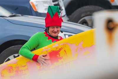 Santa's Helper - Margo Surfing Long Beach 12-24-18