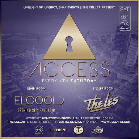 HTH presents Access at CellarSF 9.26.15