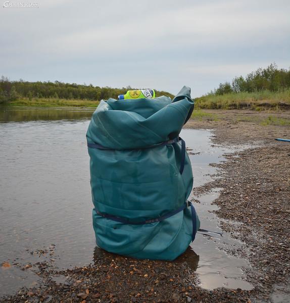 what a deflated raft looks like............