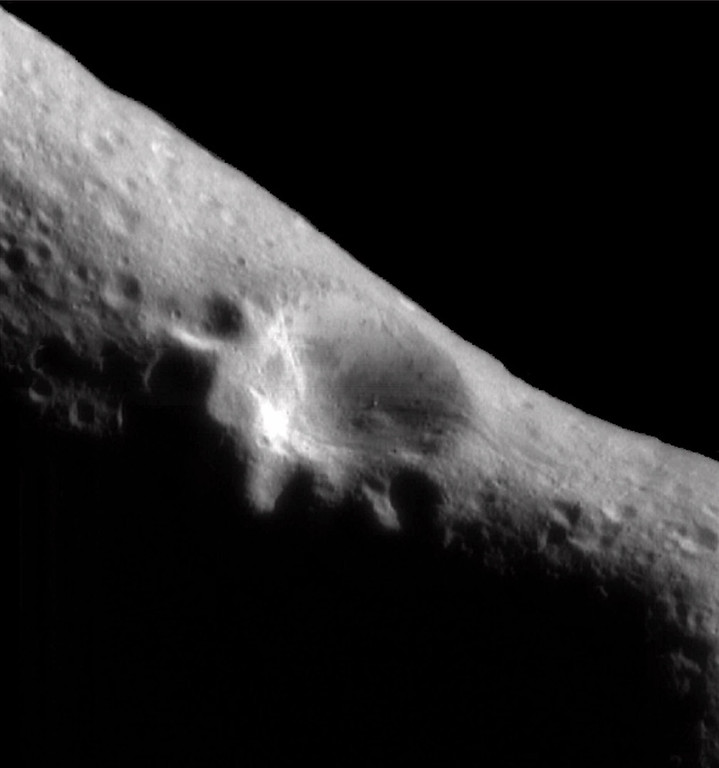 . The astroid Eros is seen in this image taken by the Near Earth Asteroid Rendevous spacecraft Monday, Feb. 14, 2000. With near flawless precision, the spacecraft slipped into orbit around the asteroid, becoming the first manmade satellite of an asteroid. (AP Photo/HO, Johns Hopkins University)