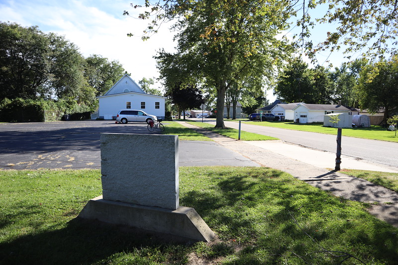 Looking south from Pipestone Township Hall