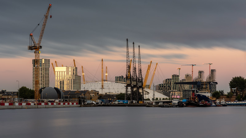 Construction in London Docklands