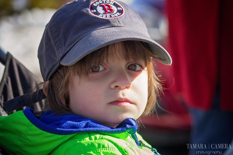 Boy in baseball hat