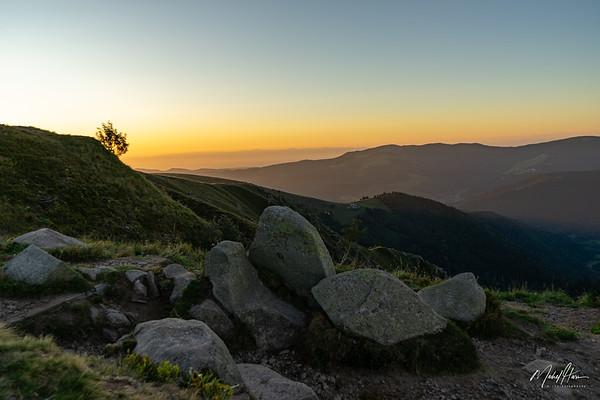 Lever de soleil (Vosges)
