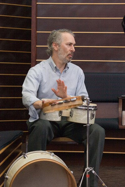 Alan Lichtman, percussion -- Siyum HaTorah -- Beth El's Project 613: Writing a Torah