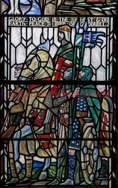 Detail of Shrine window 5  Alexander III and Robert the Bruce