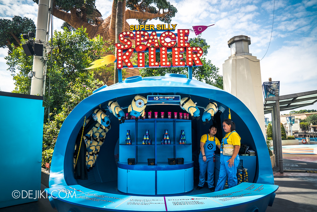 Universal Studios Singapore Park Update July 2017 - Despicable Me Minion Breakout Party event / Super Silly Space Killer booth
