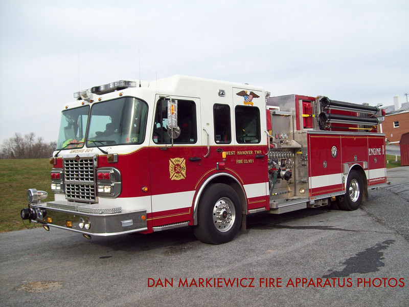 WEST HANOVER TOWNSHIP FIRE CO. ENGINE 36-1 2009 SPARTAN/ROSENBAUER PUMPER