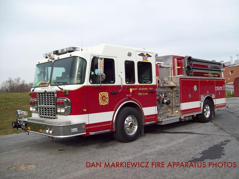 WEST HANOVER TOWNSHIP FIRE CO. ENGINE 36-1 2009 SPARTAN/ROSENBAUER PUMPER