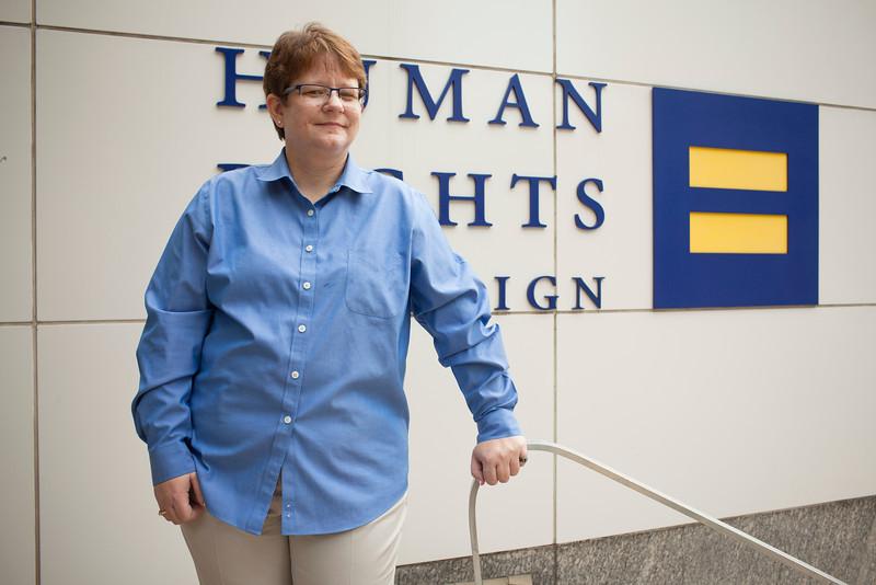 Janice Langbehn photographed near HRC in Washington DC, October 18th, 2011. Photo by Dakota Fine.