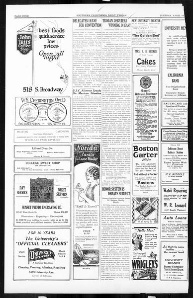 Daily Trojan, Vol. 16, No. 83, April 14, 1925