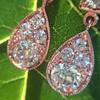 1.51ctw Diamond Mosaic OEC Dangle Earrings 1