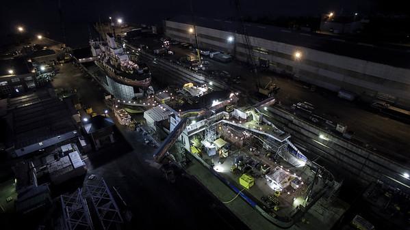 Davie by night aerials
