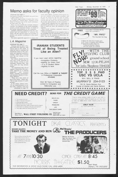 Daily Trojan, Vol. 87, No. 45, November 19, 1979