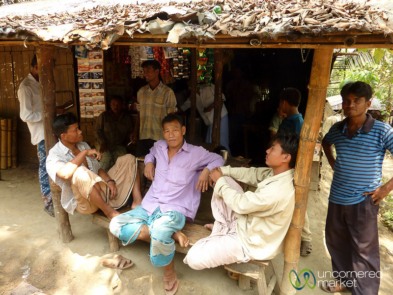 Men Hanging Out at Tea House - Rangamati, Bangladesh