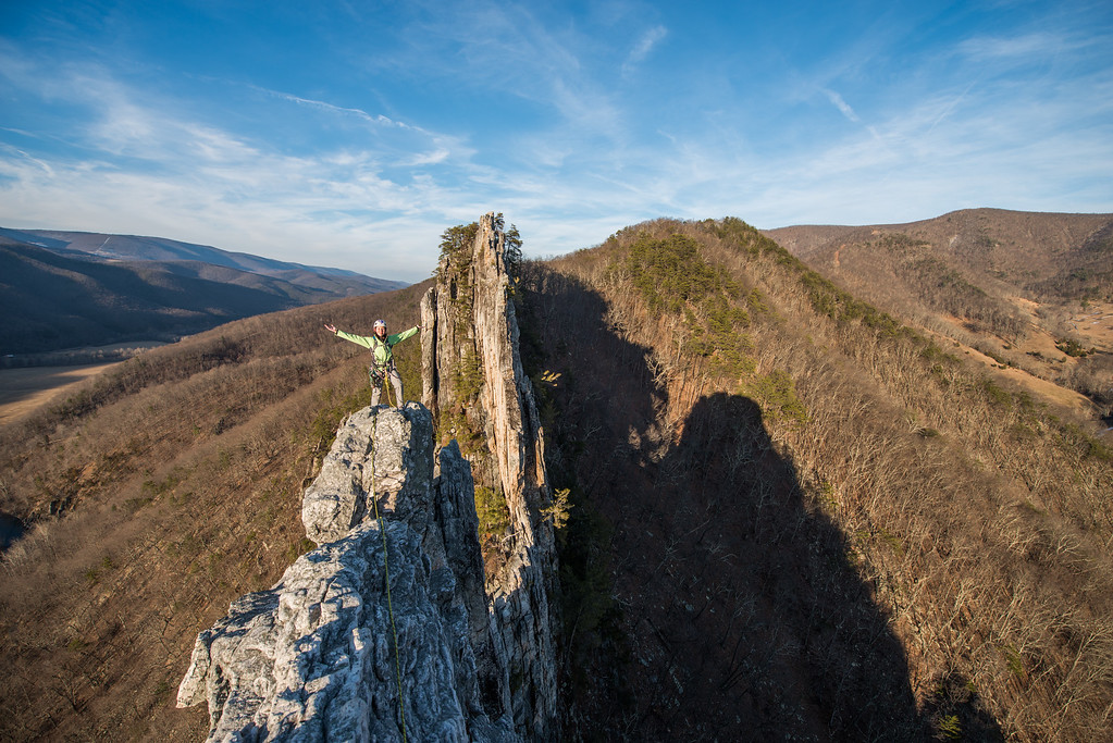 Climbing; Seneca; Rocks; West; Virginia; photo; Gabe; DeWitt; February; 2015; 294; Conn