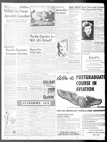 Daily Trojan, Vol. 40, No. 42, November 09, 1948