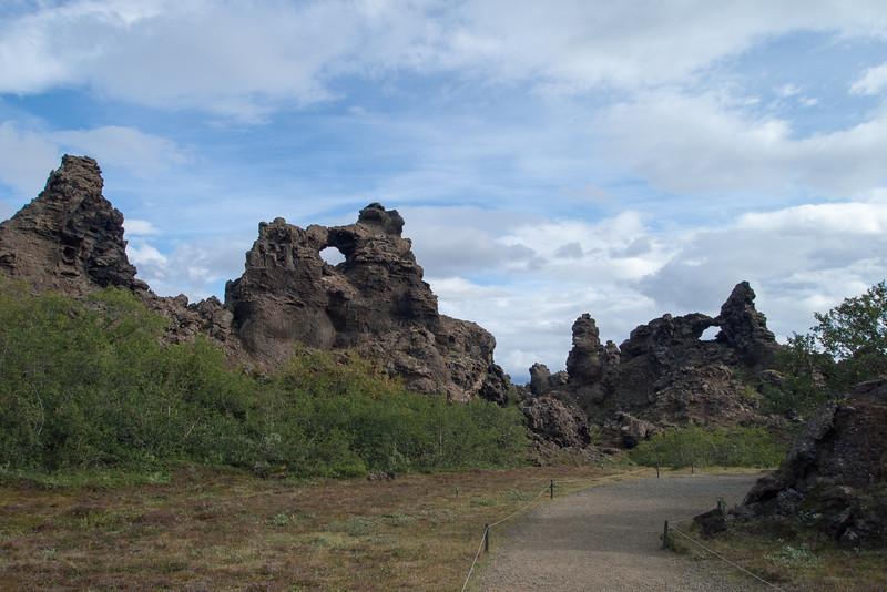 Dimmuborgir Lava formation area