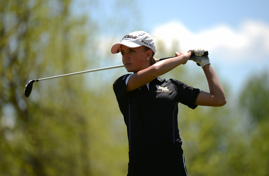 . ENGLEWOOD, CO. - MAY 21 : Nicole Rooney of Green Mountain High School is in State 4A Girl\'s Golf Championship at Broken Tree Golf Course. Englewood, Colorado. May 21, 2013. (Photo By Hyoung Chang/The Denver Post)