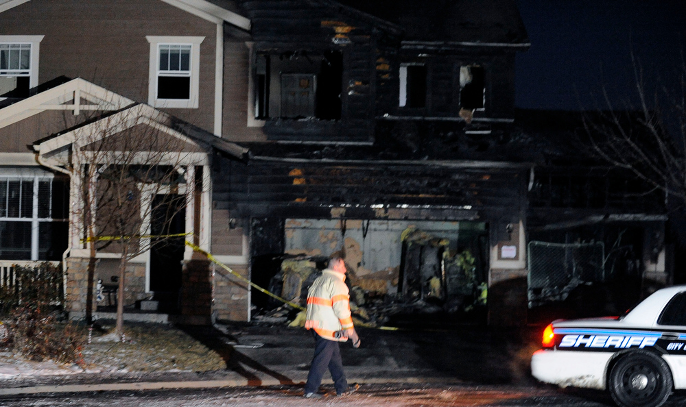 . AURORA - A house fire early Tuesday morning severely damaged a home on East Hampden Place, but the residents, a mother and daughter escaped without injury. Steve Nehf, The Denver Post