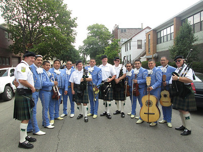 Shannon Rovers : Solemnity of the Assumption Parade.  St Jerome's Parish , Bridgeport , Chicago - 8/15/13