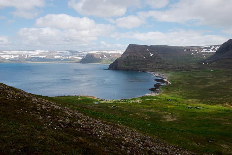 Séð yfir Aðalvík.