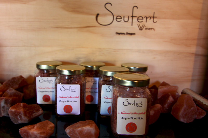 We were treated to a private wine tasting at Seufert Wines!  These are some of the flavored seasalts they make.  The Strawberry-Truffle-Black pepper was phenomenal sprinkled on  a strawberry half!!!
