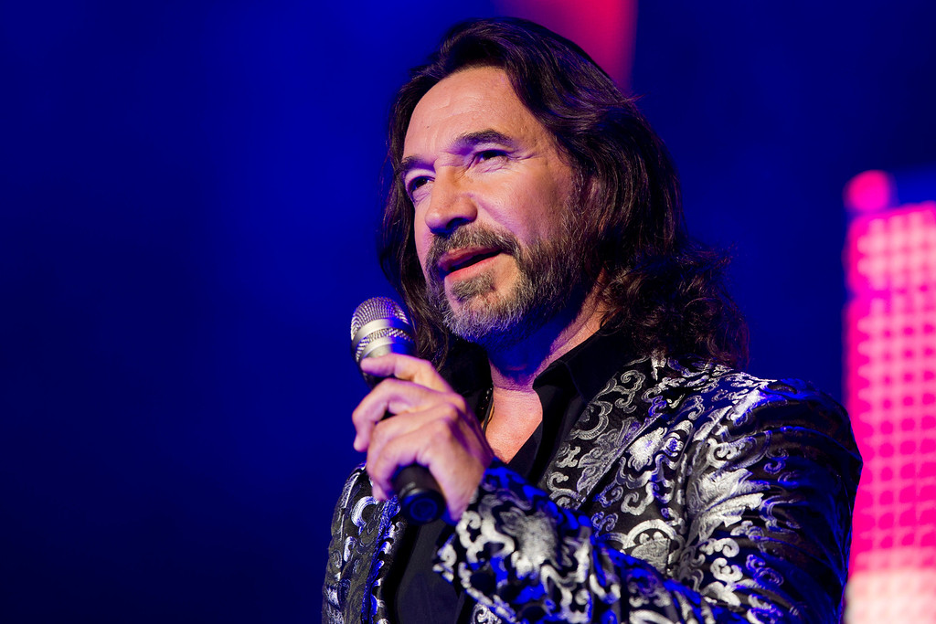 . August 23 & 24, 2013: Marco Antonio Solis<br /> <br />Singer Marco Antonio Solis performs in concert during the Gigantes Tour which also features Chayanne and Marc Anthony on Friday, August 10, 2012 in East Rutherford, NJ. (Photo by Charles Sykes/Invision/AP)