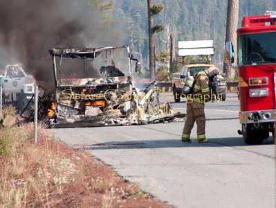 Santiam Pass Motorhome Fire - September 24, 2009